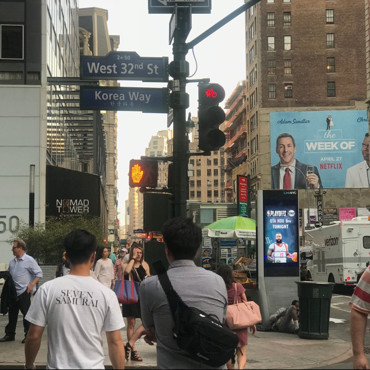 Korea Town in NYC